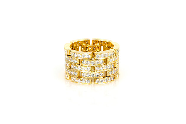 Cartier Diamond and Gold Band Ring