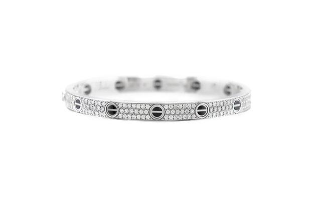 Cartier Diamond Love Bracelet 18k White Gold