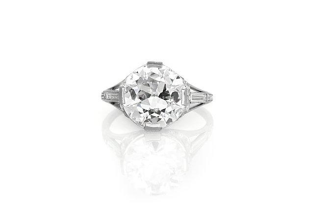 4.06 Carat Art Deco Engagement Ring