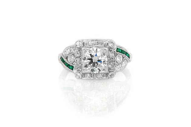 0.90 Carat Art Deco Engagement Ring