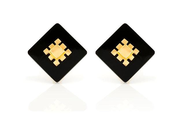 Aldo Cipullo Onyx Earrings
