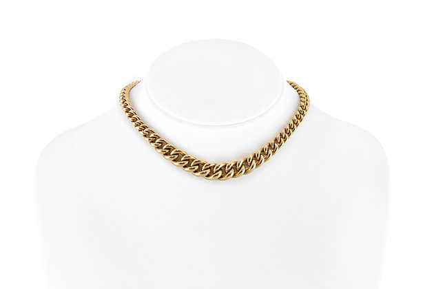 Italian Gold Link Necklace on