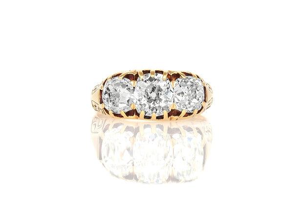 Three Stone Victorian Ring
