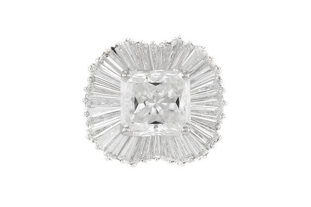 5.13+6.00 Carat Diamond and Platinum Ballerina Ring