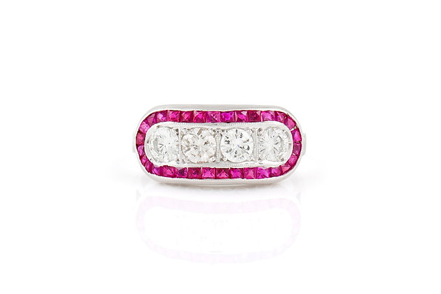 Diamond and Ruby Ring front