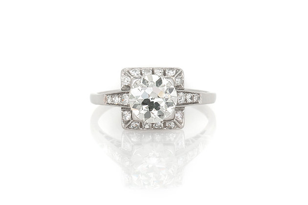 1.40 Carat Art Deco Engagement Ring