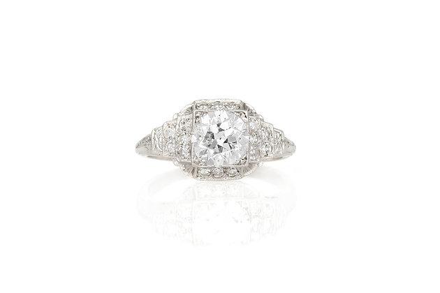 1.28 Carat Vintage Engagement Ring