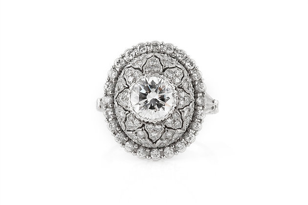 M. Buccellati Diamond Cocktail Ring front view