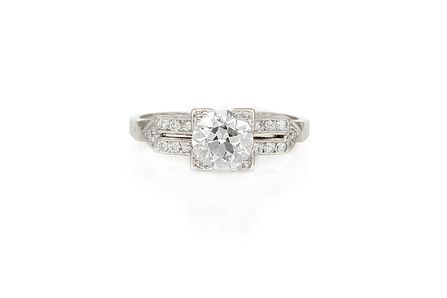1.10 Carat Art Deco Engagement Ring