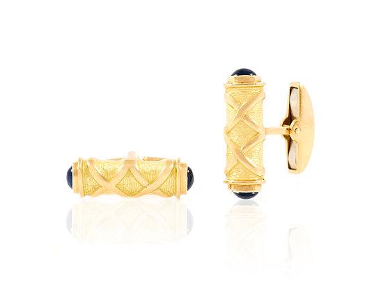 Asprey Sapphire Cufflinks