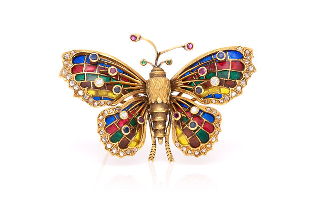 European Butterfly Brooch Front View