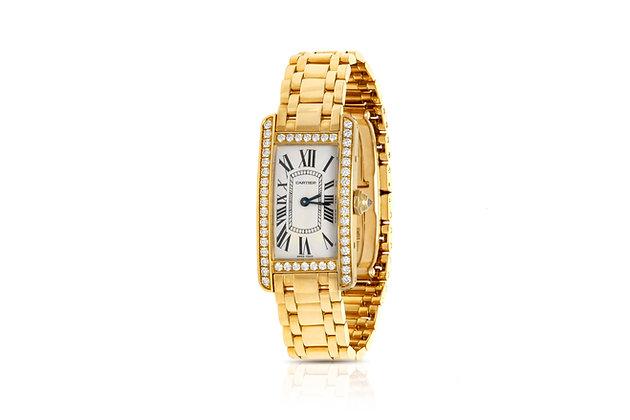 Cartier Diamond Watch Front View