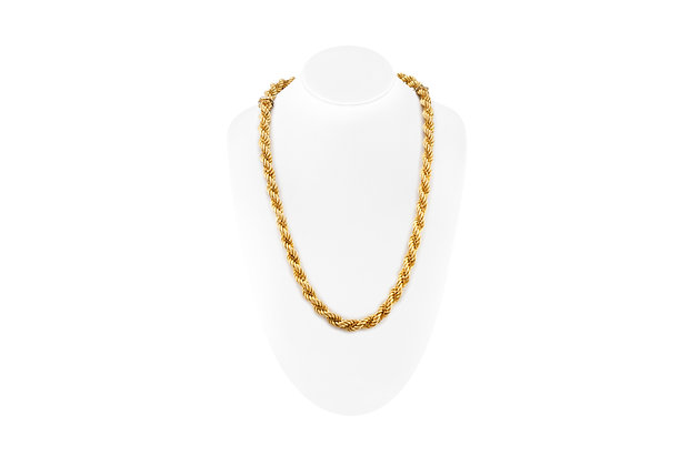 """26"""" 18K Yellow Gold Rope Chain Necklace and Bracelet"""