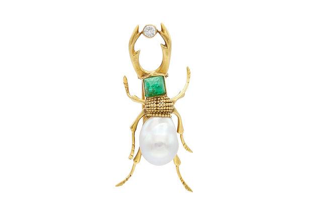 Hermes Beetle Bug Pin
