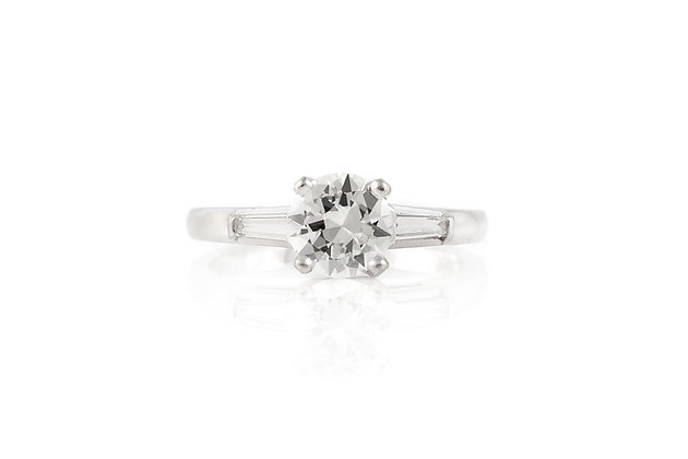 Engagement Ring Art Deco 0.90 Carat top