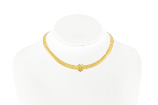 14K Yellow Gold Choker Necklace