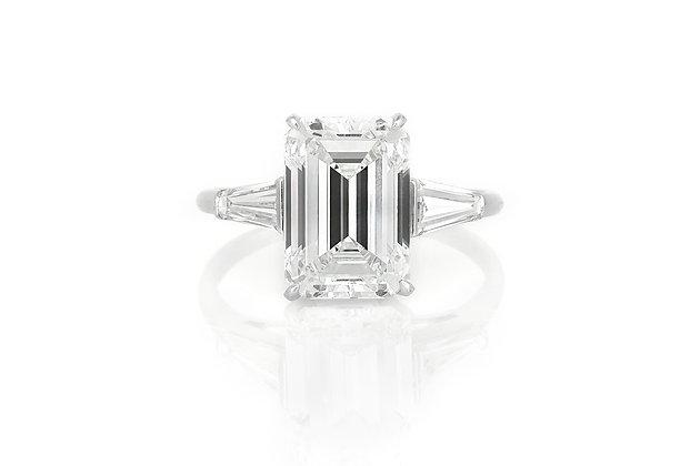 5.31 Carat Emerald Cut Engagement Ring top view