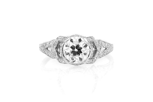 1.51 Carat Antique Reproduction Engagement Ring