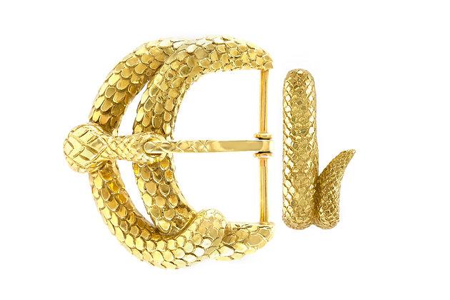 David Webb Gold Snake Belt Buckle