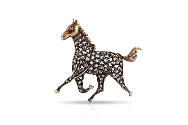 Horse Brooch Front View