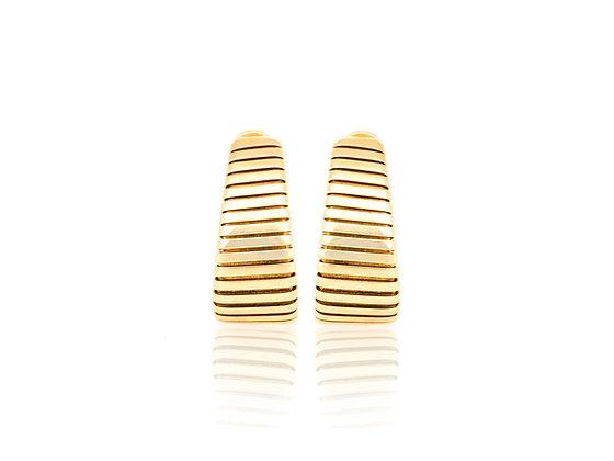 Bvlgari Parentesi Gold Hoop Earrings front view