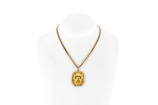 David Webb Lion Head Pendant-Necklace front