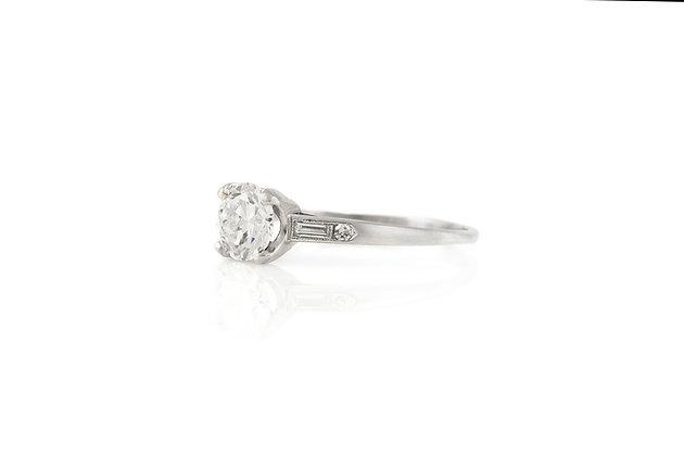 1.05 Carat Antique Art Deco Engagement Ring Top