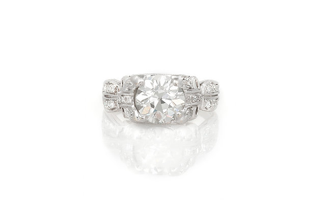 1.32 Carat Art Deco Engagement Ring