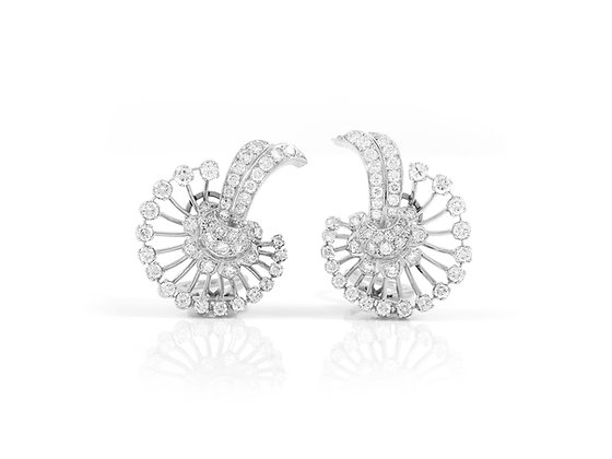 Diamond Earrings front view