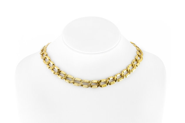 Gold Link Collar Necklace on