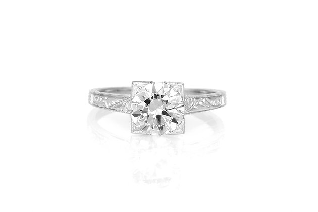 1.40 Carat Art Deco Engagement Ring