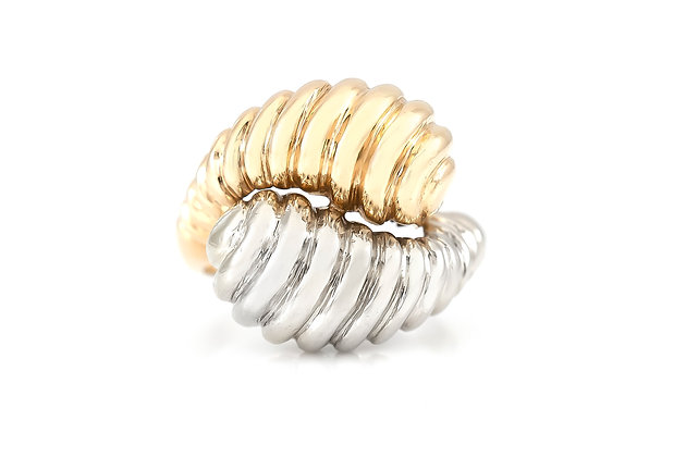 Dual Gold Shrimp Ring top