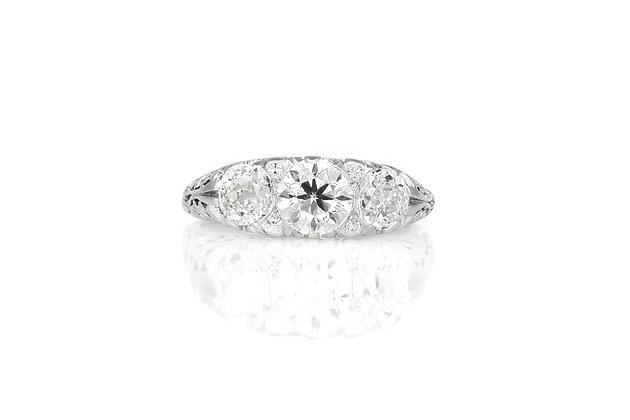 Three Stone Edwardian Ring