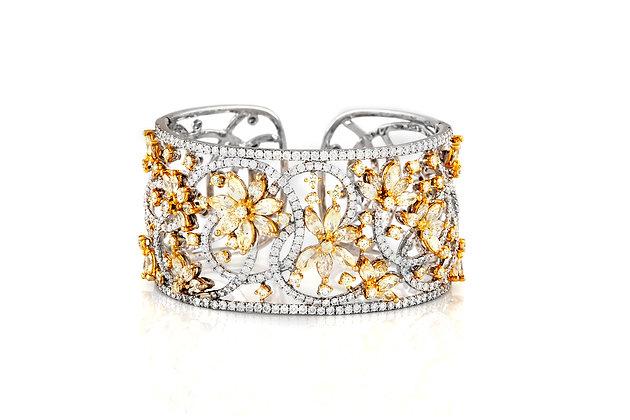 Diamond Cuff Bracelet Front View