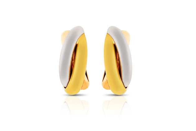 Cartier Trinity Earrings Front View