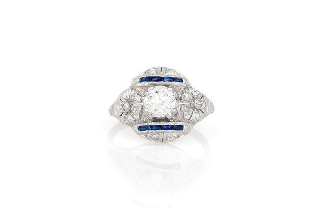 1.00 Carat Art Deco Engagement Ring