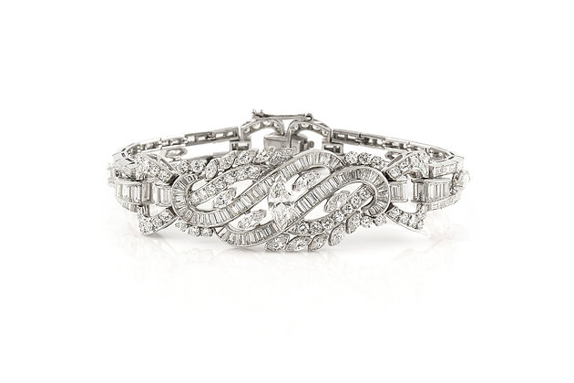 18.90 ct Diamond Bracelet Front View