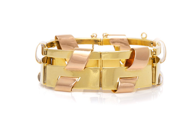 French Gold Bracelet Front View