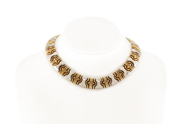 Gold Link Necklace front