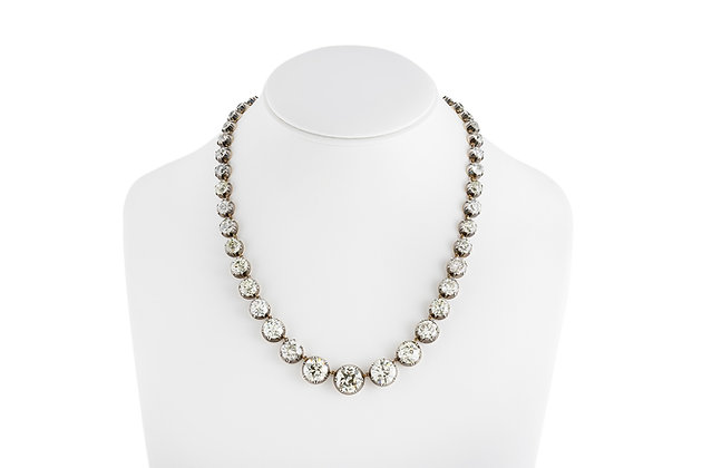 Graduated Diamond Necklace front