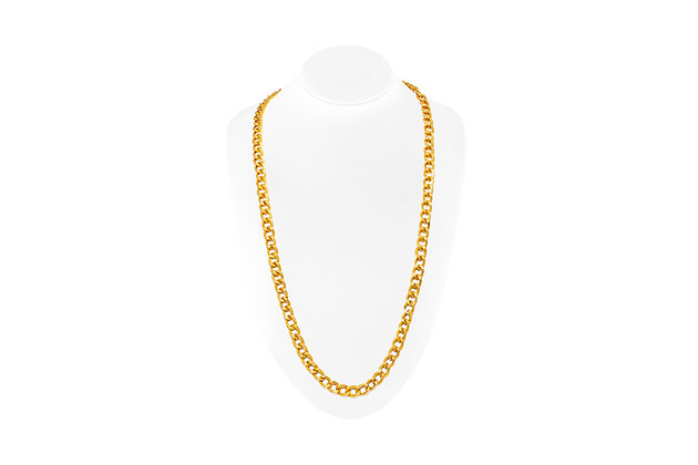 Long Gold Chain Front View