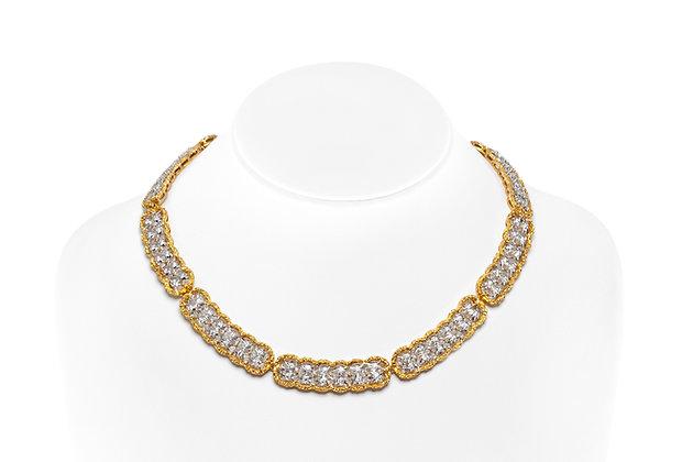 Buccellati Diamond Collar Necklace Neck View