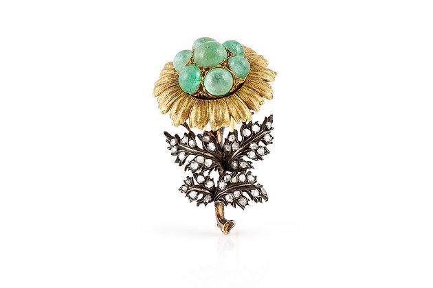Buccellati Flower Brooch front