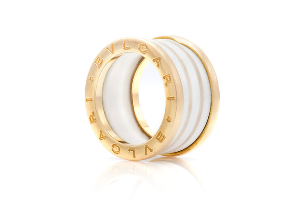 Bvlgari B.Zero 1 Ring in White Ceramic