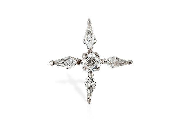 Diamond Cross Pendant Back View