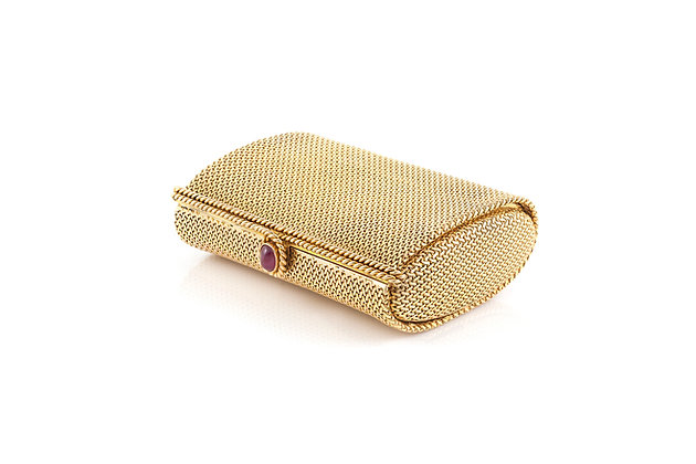 Verdura Gold Clutch with Mirror side view
