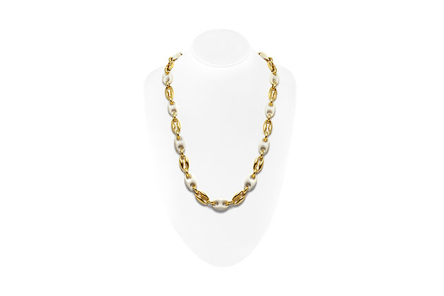 Gold Bone Necklace On Neck View