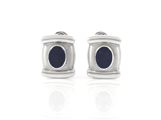 Asprey Sapphire Cufflinks front
