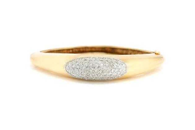 Ellipse Diamond Bangle Bracelet top view