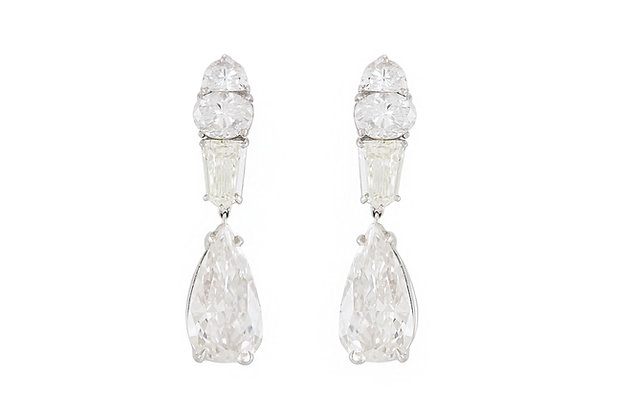 Multi-cut 13.02 Carat Diamond Drop Earrings